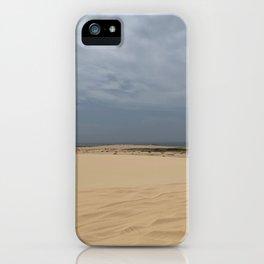 Sand Dunes at Stockton Sand Dunes, Port Stephens, Australia iPhone Case