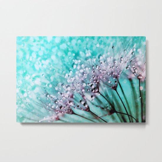 Dew on dandelions II Metal Print
