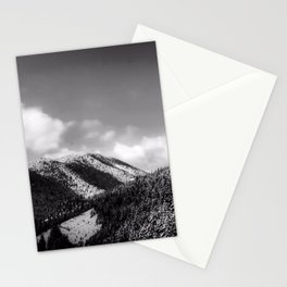 Big Sky Country - Black And White Stationery Cards