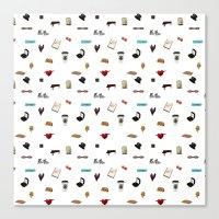 klaine Canvas Prints featuring Pattern of Klaine things by Jen K