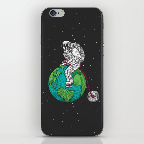 Ride the world iPhone Skin