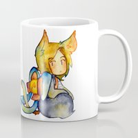 bow Mugs featuring bow by cynamon