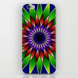 Queen of the valley mandala iPhone Skin