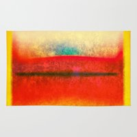 rothko Area & Throw Rugs featuring After Rothko 8 by Gary Grayson