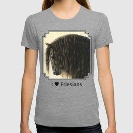 Black Friesian Draft Horse T-shirt