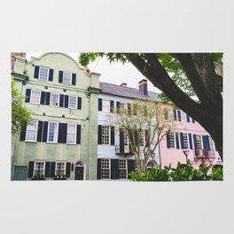 Rainbow Row in Charleston, SC Rug