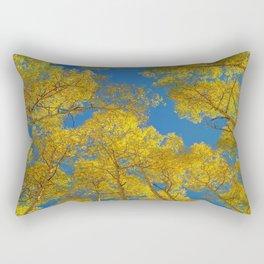 Aspen Trees Against Sky Rectangular Pillow