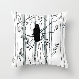 Slender Man Throw Pillow