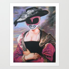 Portrait Of A Pink Ranger Art Print