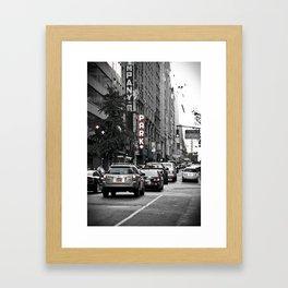 NYC City Street Framed Art Print