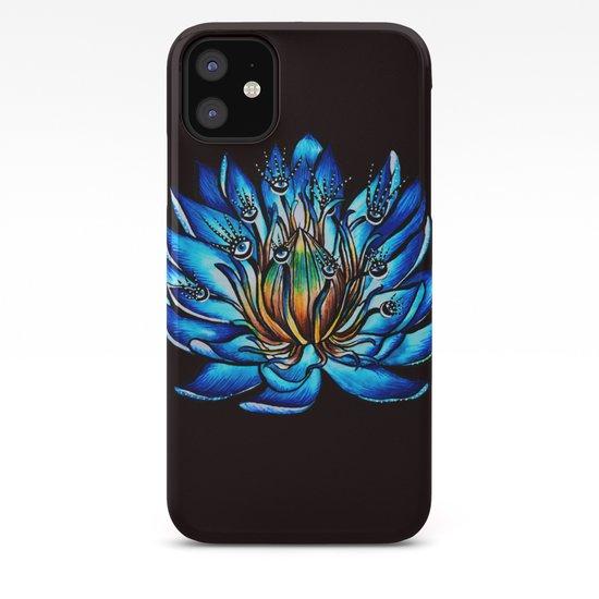 Multi Eyed Blue Water Lily Flower by borianagiormova
