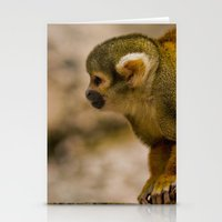 monkey island Stationery Cards featuring Little Monkey by Glory Baby Photography