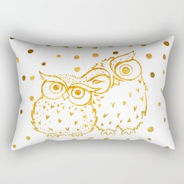 Gold Owls Rectangular Pillow