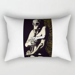 Gas Mask Girl Rectangular Pillow