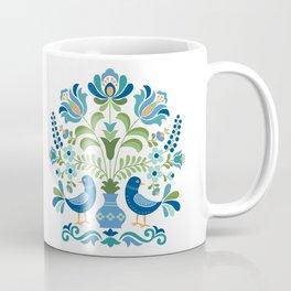Hungarian Folk Design Blue Birds Coffee Mug