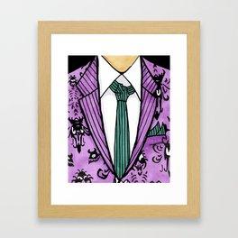 Haunted Suit Framed Art Print