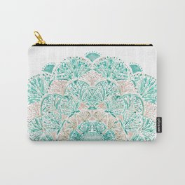 SO SHELLULAR Mint + Rose Gold Shell Mandala Carry-All Pouch