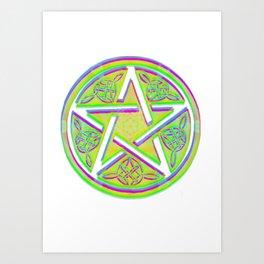 celtic star Art Print