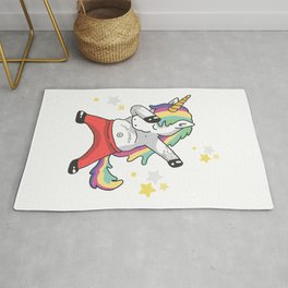 cute unicorn dancing Rug