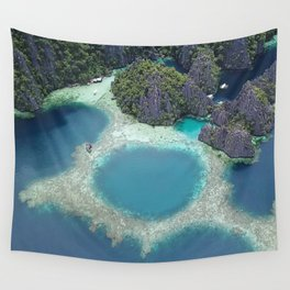 the blue hole in coron Philippines Wall Tapestry