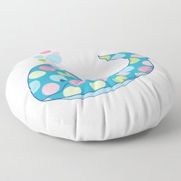 BUBBLES the Baby Whale Floor Pillow