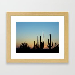 Sunset Cacti 2 Framed Art Print