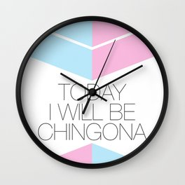 Chingona Wall Clock