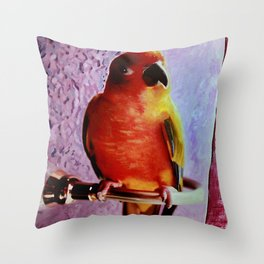 Bobo The Bird Throw Pillow