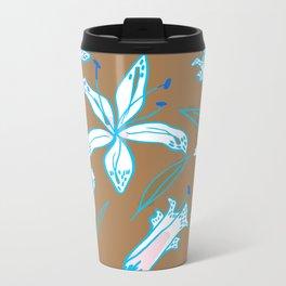 Lilies Cool Metal Travel Mug