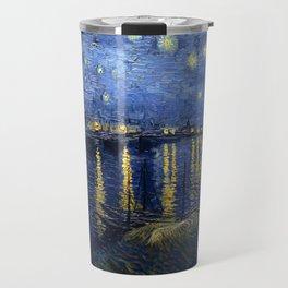 Vincent van Gogh's Starry Night Over the Rhone Travel Mug