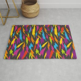 Abstract Party Poppers Pattern Rug