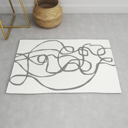 Figures in Dynamic Motion - Modern Artwork Rug