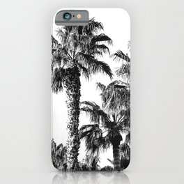 {2 of 2} Classic Palm Leaf Sky // Summer Black and White Palmtree Art Print iPhone Case