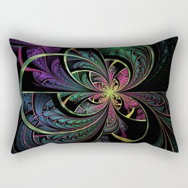 Rainbow Splits Rectangular Pillow