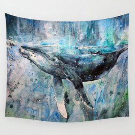 Whale Art Wall Tapestry