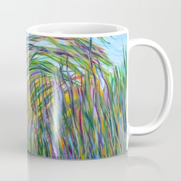 Tropical Green Abstract, Seagrass Color Study, Contemporary Colorful Home Decor Coffee Mug