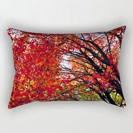 red tree at fall Rectangular Pillow