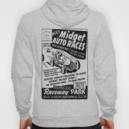 Midget Auto Races, Race poster, vintage poster, bw Hoody