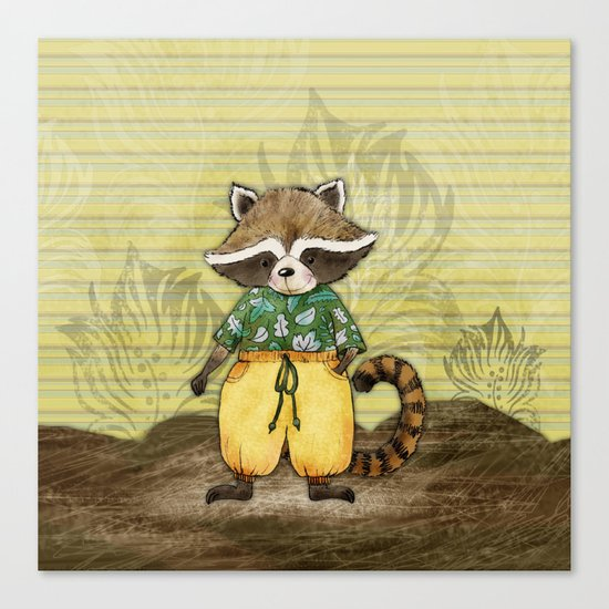 Standa the Racoon Canvas Print