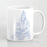 shiva Mugs featuring SHIVA by Only Vector Store - Allan Rodrigo