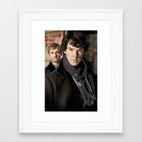 sherlock Framed Art Prints featuring Sherlock  by SB Art Productions