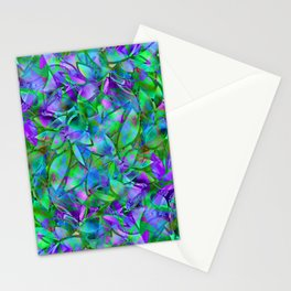 Floral Abstract Stained Glass G295 Stationery Cards