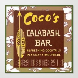 Tiki Art - Coco's Calabash Bar Canvas Print
