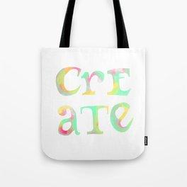 Create Boldly Watercolor Tote Bag