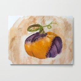 Rotting Pumpkin Metal Print