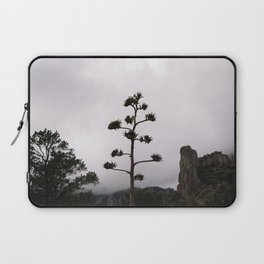 Lone Tree on Foggy Mountain Top Laptop Sleeve