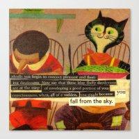 skyfall Canvas Prints featuring skyfall by karen owens