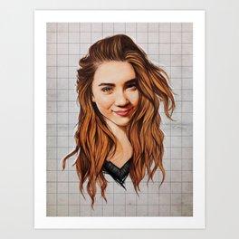Rowan Blanchard Art Art Print