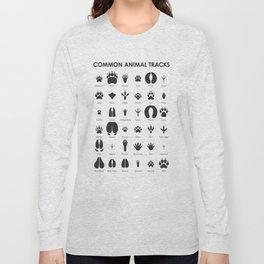Common Animal Tracks Long Sleeve T-shirt