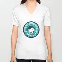 sherlock V-neck T-shirts featuring Sherlock by mydeardear